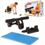 3-Wheel-Ab-Roller-and-Push-Up-Bar-AB-WOW-Dragon-Multi-functional-Tri-Wheel-Exercise-Equipment-and-Lightweight-Portable-Abdominal-Fitness-Trainer-0
